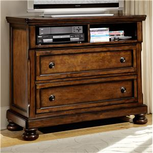 Transitional TV Chest with 2 Drawers