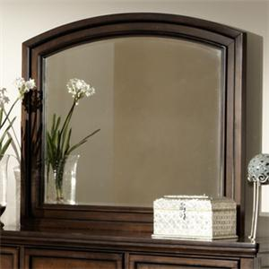 Wooden Framed Mirror with Beveled Edge