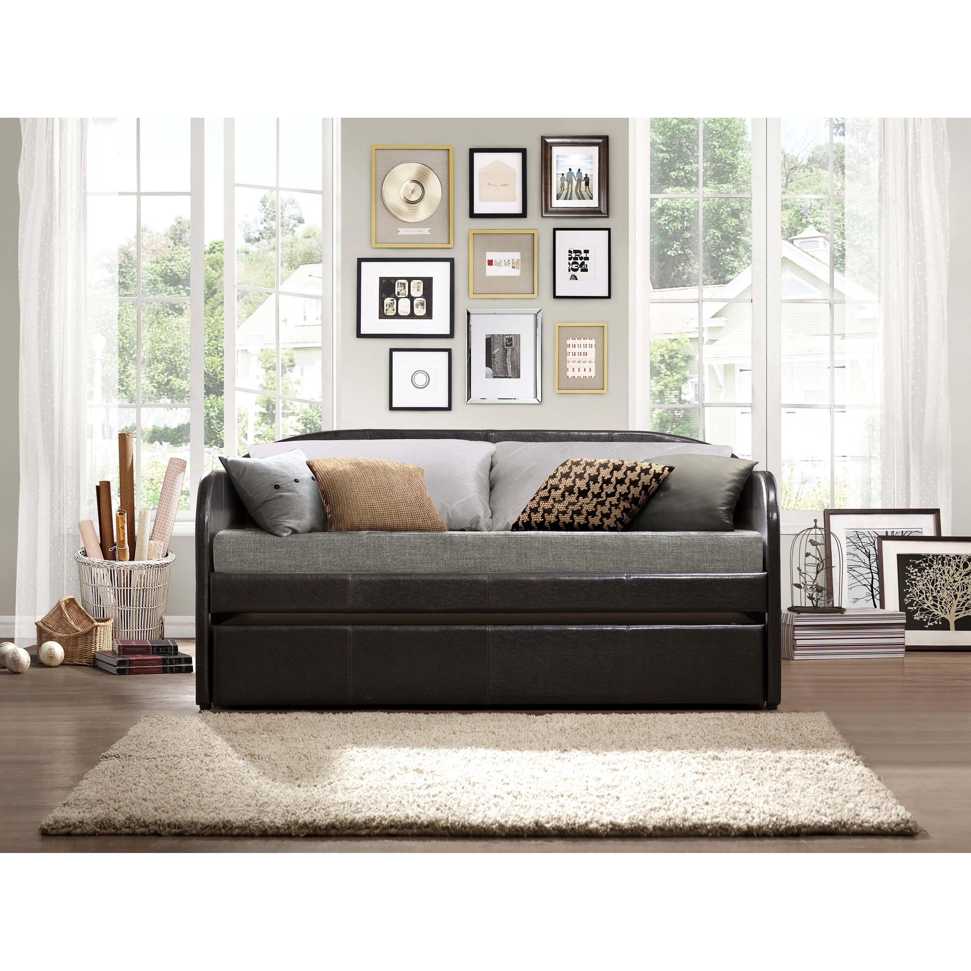 Daybeds Roland Daybed with Trundle by Homelegance at Darvin Furniture