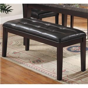 Upholstered Dining Bench with Tufted Seat