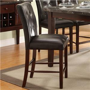 Upholstered Counter Height Chair with Tufted Seat Back