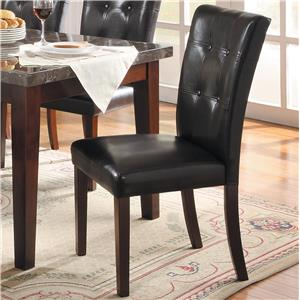 Upholstered Dining Side Chair with Tufted Seat Back