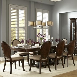 Transitional Dining Table and Chair Set