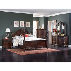 Traditional King Bedroom Group with Poster Bed