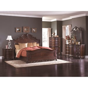 Traditional Queen Bedroom Group with Sleigh Bed