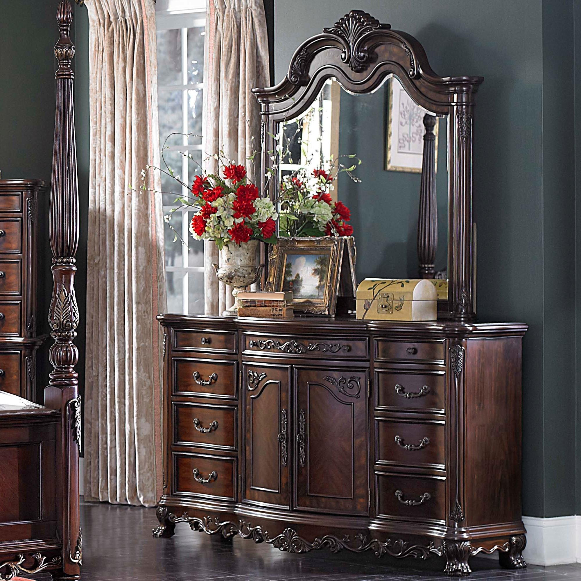Deryn Park Dresser and Mirror by Homelegance at Carolina Direct