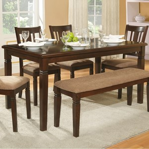 Transitional Dining Table with Notch Accents