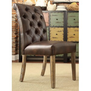 Contemporary Side Chair with Tufted Top