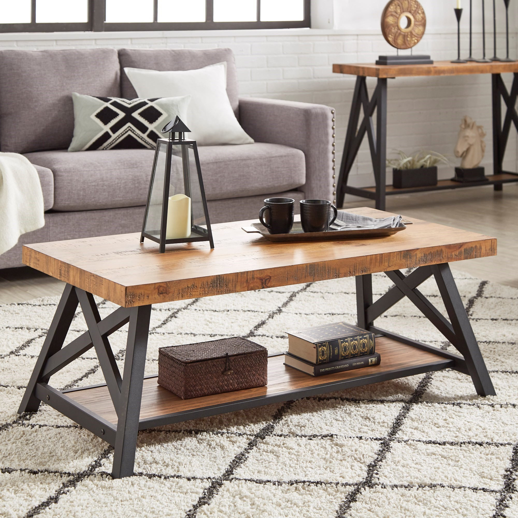 E460 Cocktail Table with Shelf by Homelegance at Carolina Direct