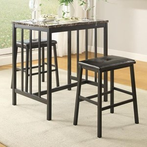 Three Piece Table and Chair Set