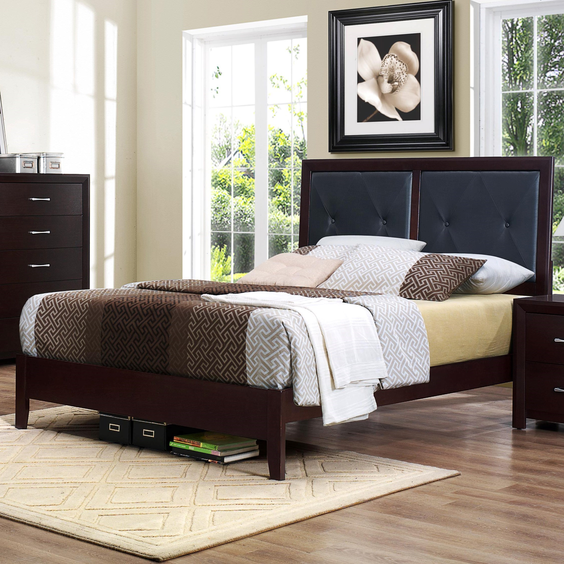Edina Full Panel Bed by Homelegance at Simply Home by Lindy's