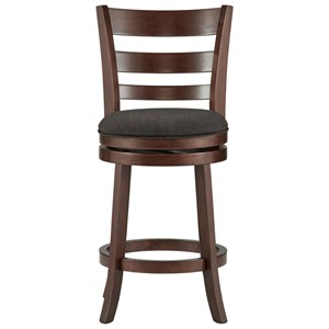 Counter Height Swivel Stool with Upholstered Seat