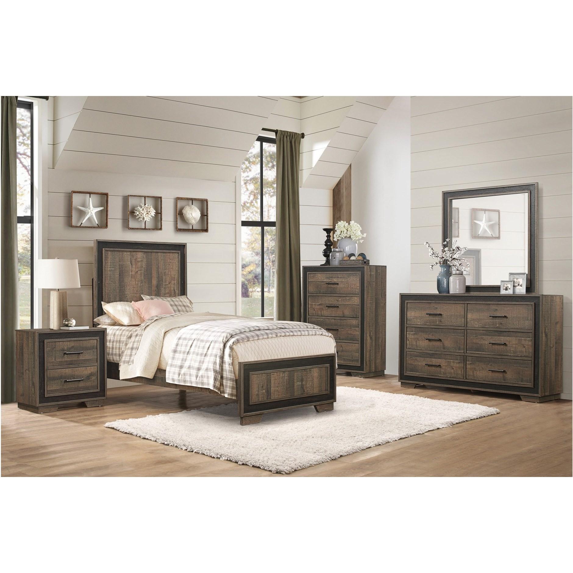 Ellendale Full Bedroom Group by Homelegance at Beck's Furniture