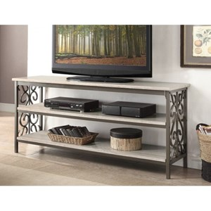 Transitional  TV Stand with Faux Marble