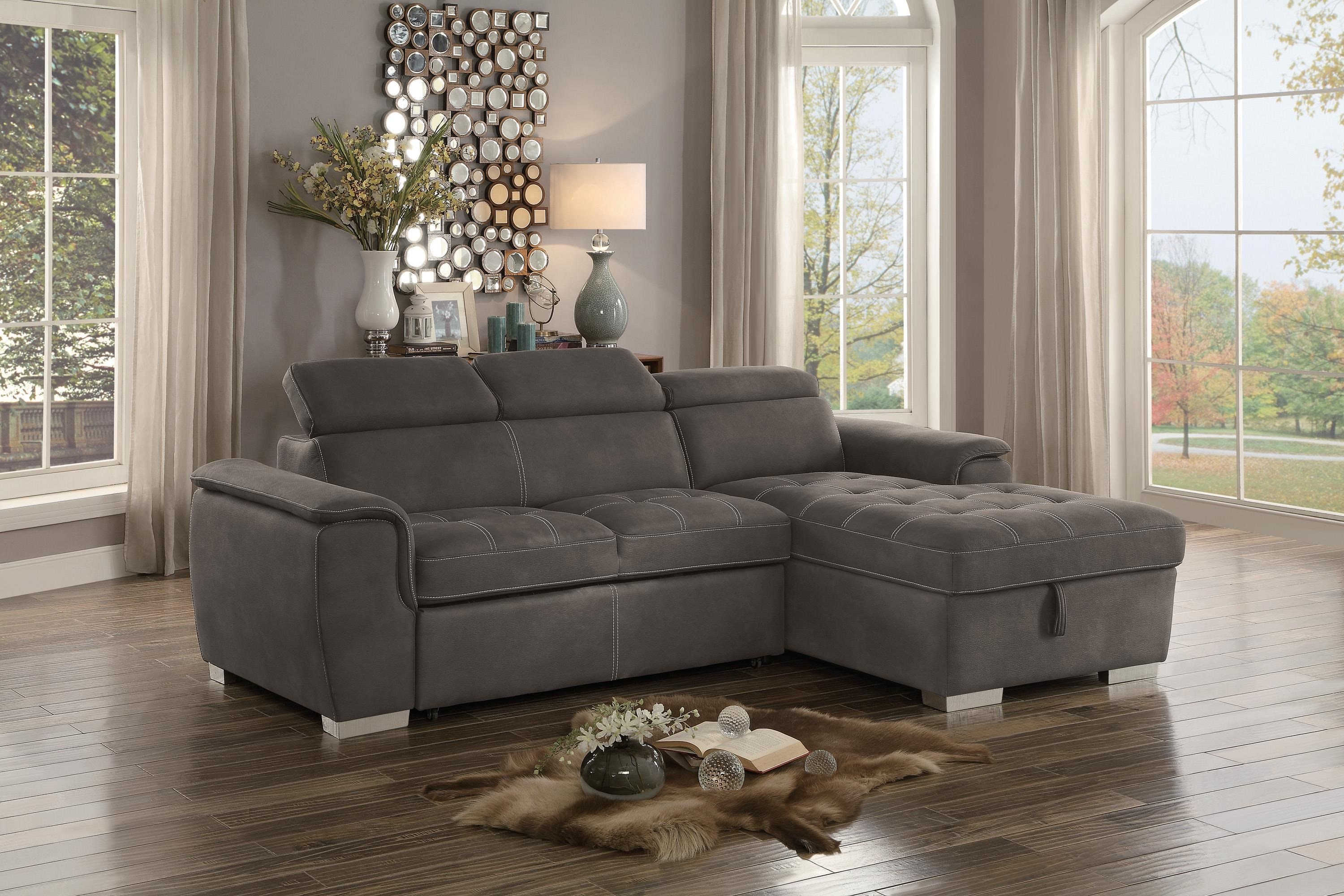 Ferriday 2 Piece Sofa Bed SectionalW/Storage by Homelegance at Darvin Furniture