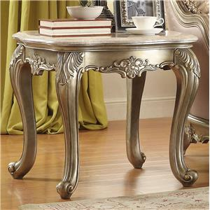 End Table with Marble Top