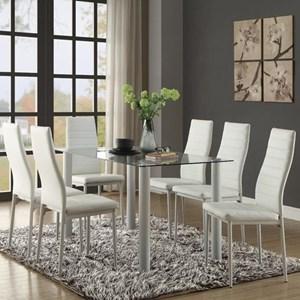 Seven Piece Contemporary Dining Set
