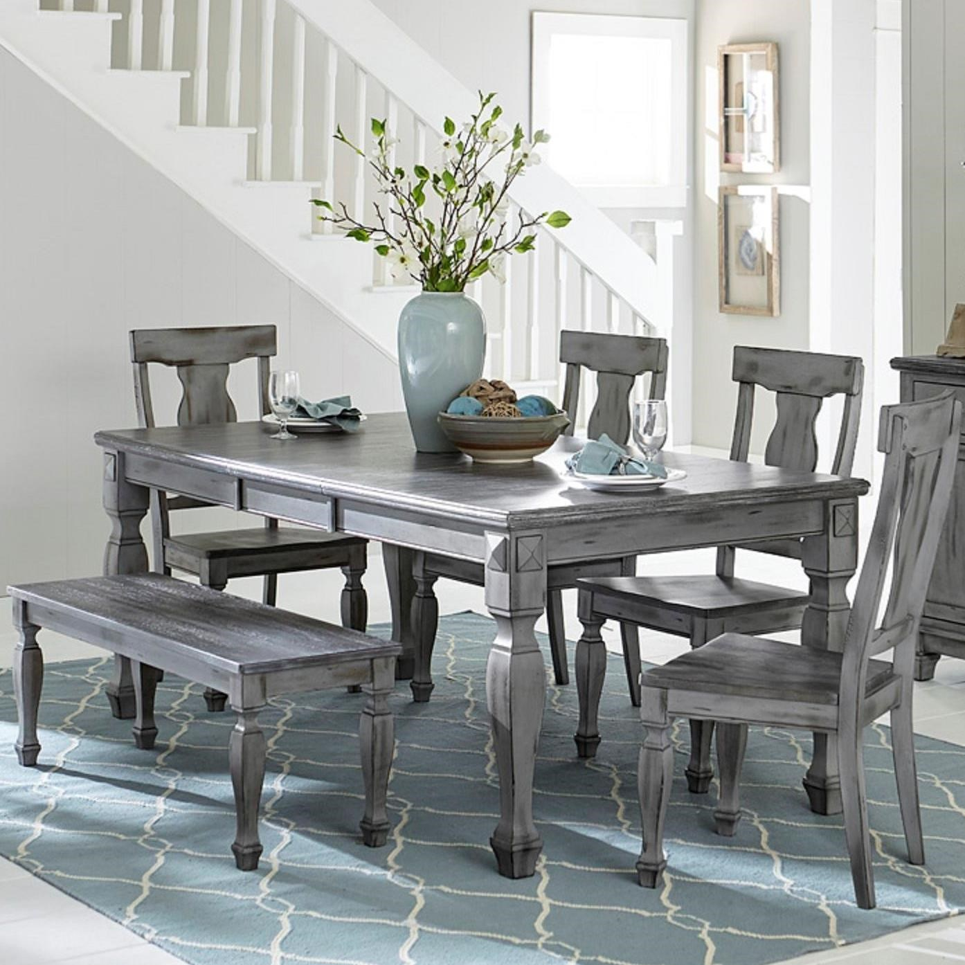 Fulbright Table & Chair Set with Bench by Homelegance at Beck's Furniture