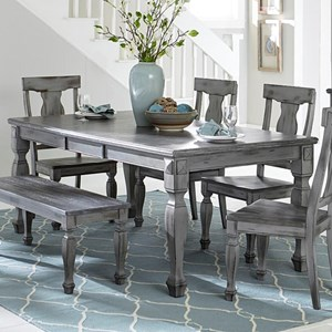 Rectangular Dining table with Butterfly Leaf