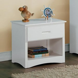 Transitional Night Stand with Open Shelf