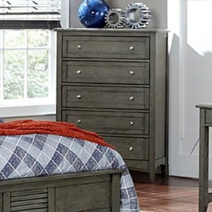 Transitional Chest of Drawers with 5-Drawers