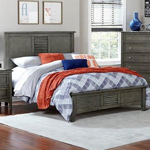Transitional Full Headboard and Footboard Bed