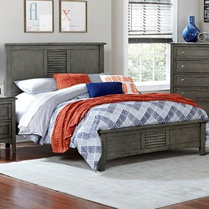 Transitional Twin Headboard and Footboard Bed