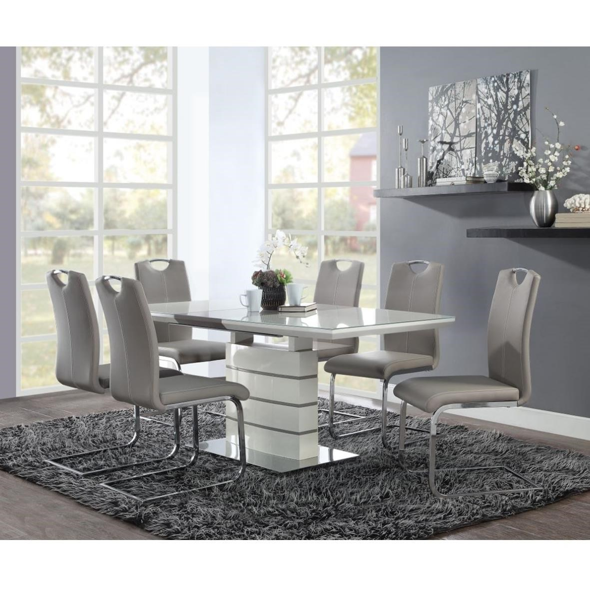 Glissand 7-Piece Table and Chair Set by Homelegance at Beck's Furniture