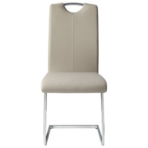 Contemporary Faux Leather Side Chair