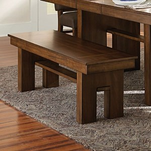 Contemporary Dining Bench with Cut-away Design
