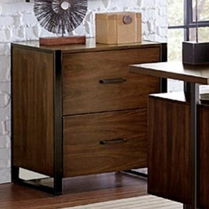 Contemporary File Cabinet with Metal Base