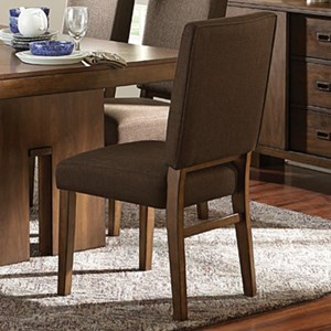 Contemporary Dining Side Chair with Upholstered Seat and Seatback