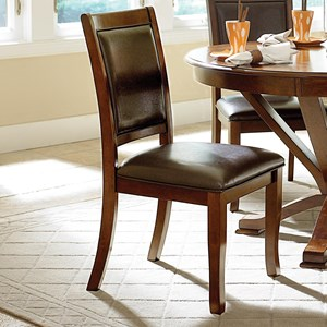 Transitional Dining Side Chair with Upholstered Seat