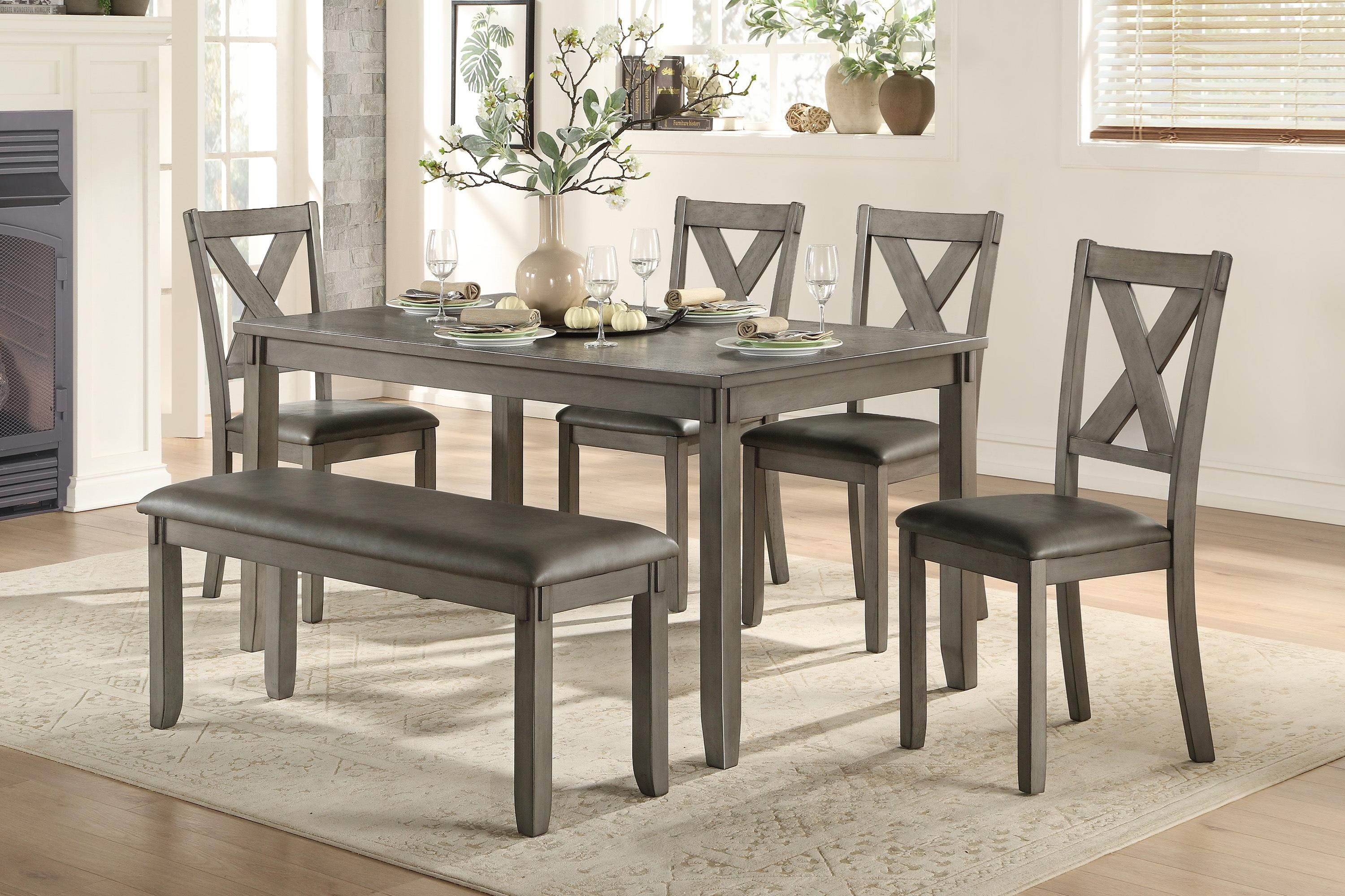 Holders 6-PIECE DINING AND CHAIR SET W/ BENCH by Homelegance at Beck's Furniture