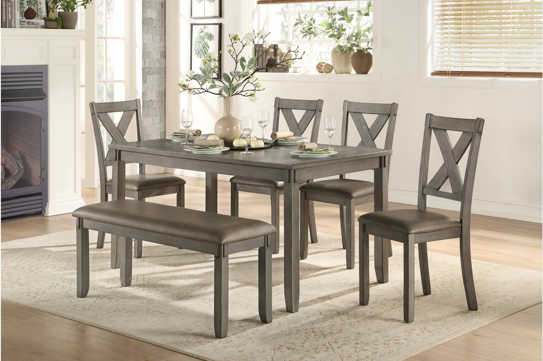 Holders 5 Piece Dining Set W/Free Bench by Homelegance at Darvin Furniture