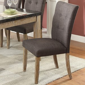 Contemporary Dining Side Chair with Button Tufting