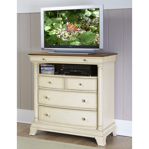Cottage TV Chest with Media Shelf