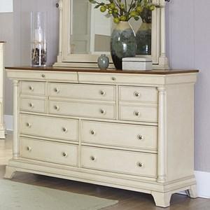 Cottage Nine-Drawer Dresser