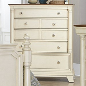 Cottage 5-Drawer Chest with Two-Tone Finish