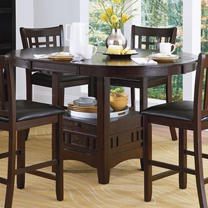 Mission Oval Pub Table with Drop Panel Door