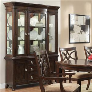 China Cabinet with 3 Glass Doors