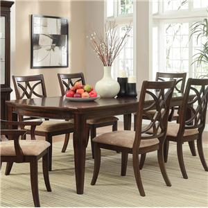 Rectangular Dining Table with Tapered Legs