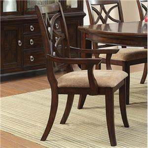 Arm Chair with Overlapping Seat Back Design