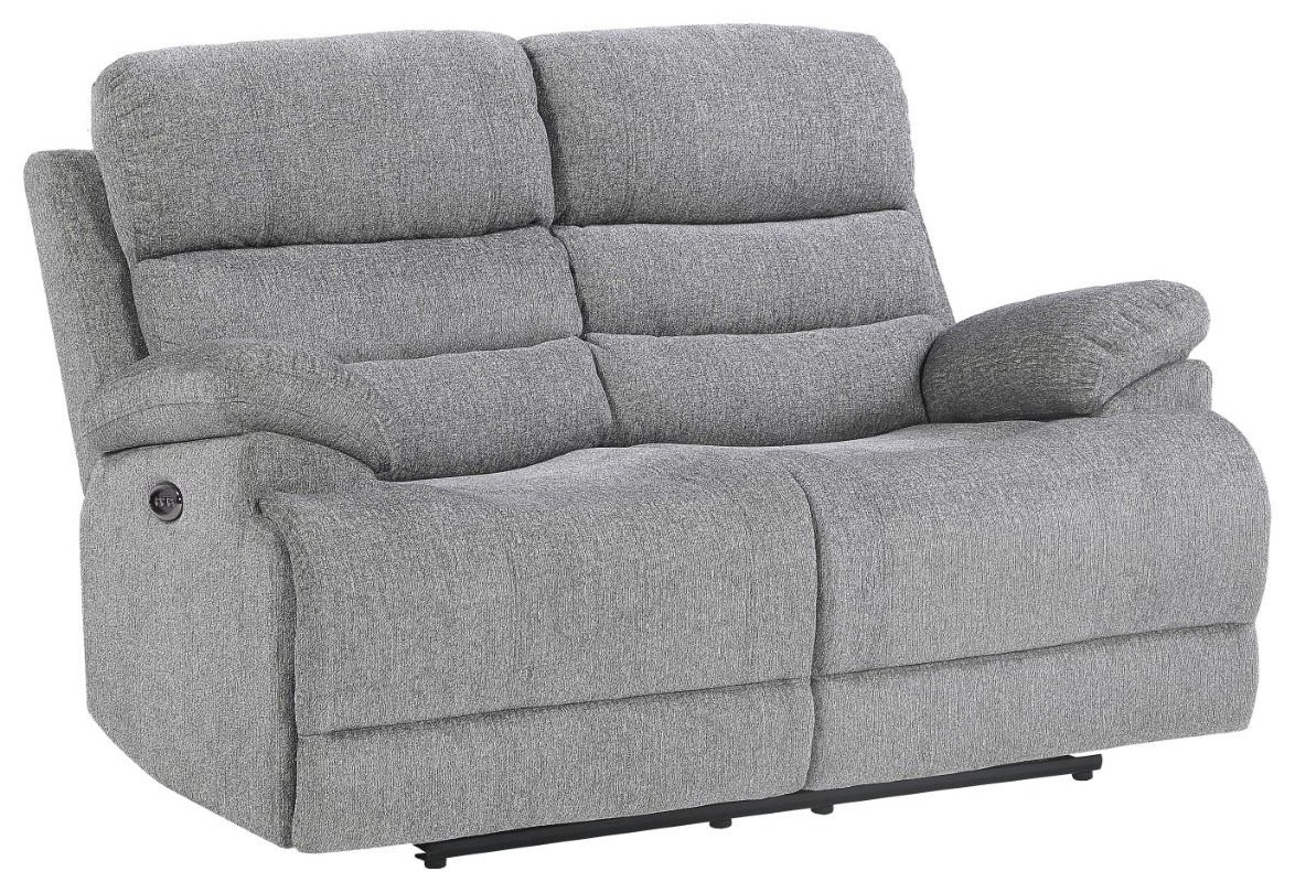 Kelso Power Reclining Love w/ Power Headrest by Home Style at Walker's Furniture