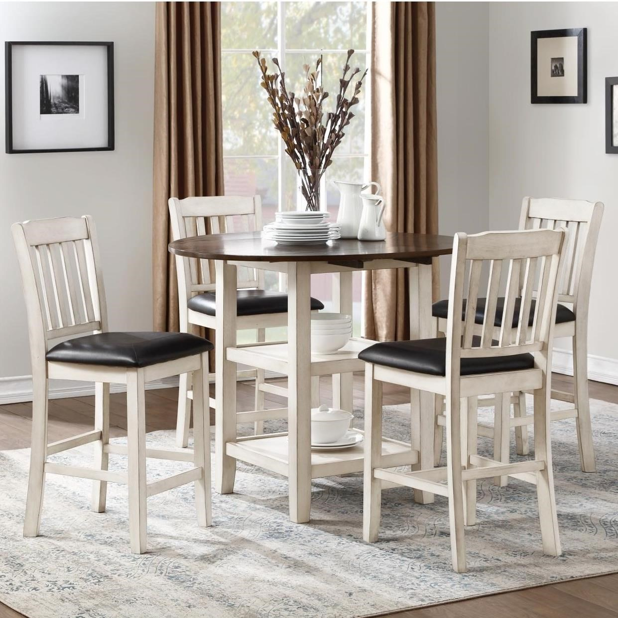 Kiwi Five Piece Chair & Pub Table Set by Homelegance at Beck's Furniture