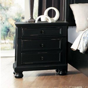 Transitional Nightstand with Hidden Felt-Lined Drawer