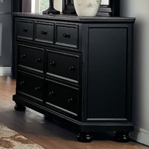 Transitional Dresser with 7-Drawers