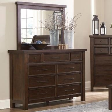 Logan Dresser and Mirror Set by Home Style at Walker's Furniture