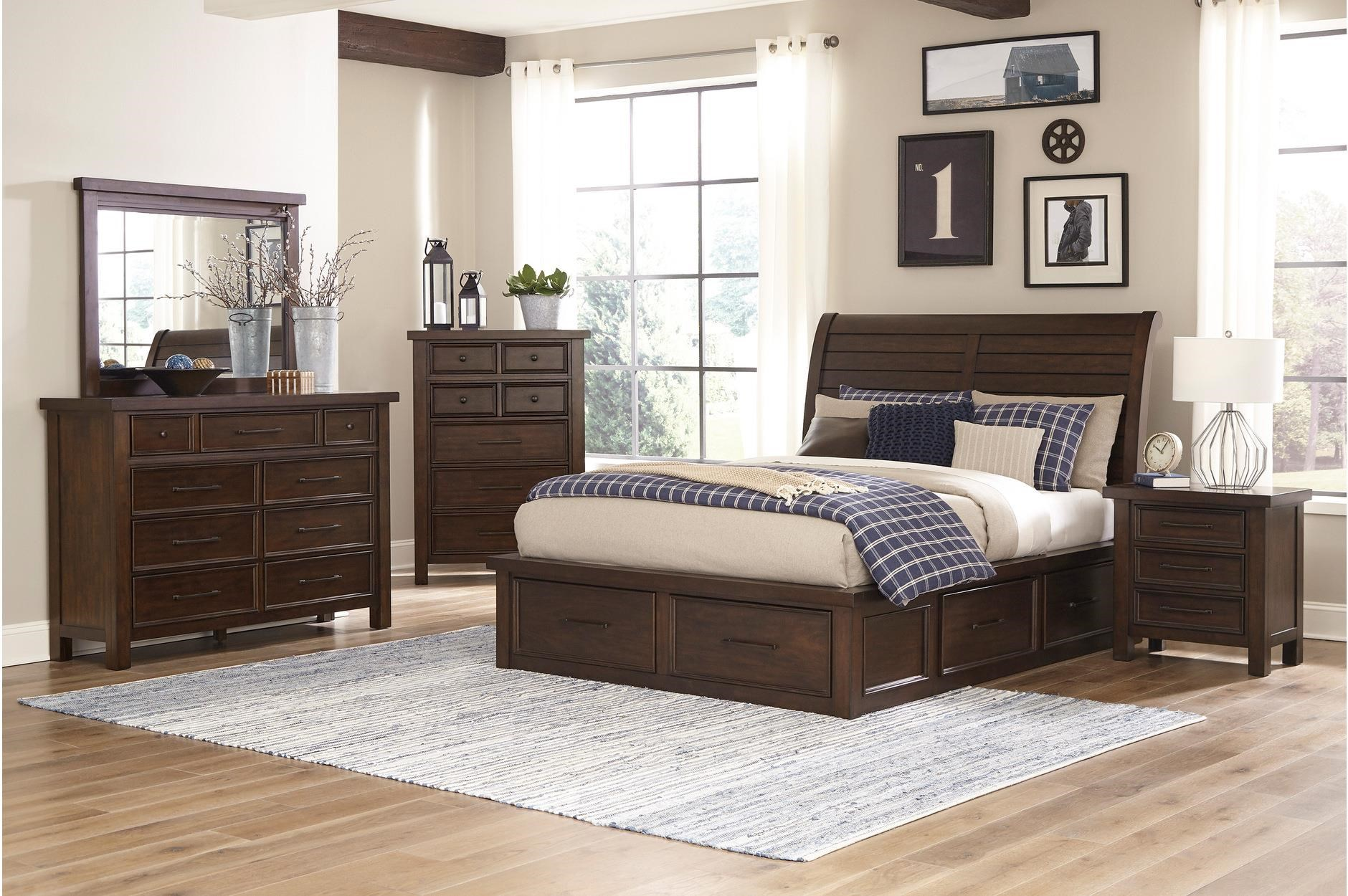 Logandale Queen Size Storage Bed by Homelegance at Darvin Furniture