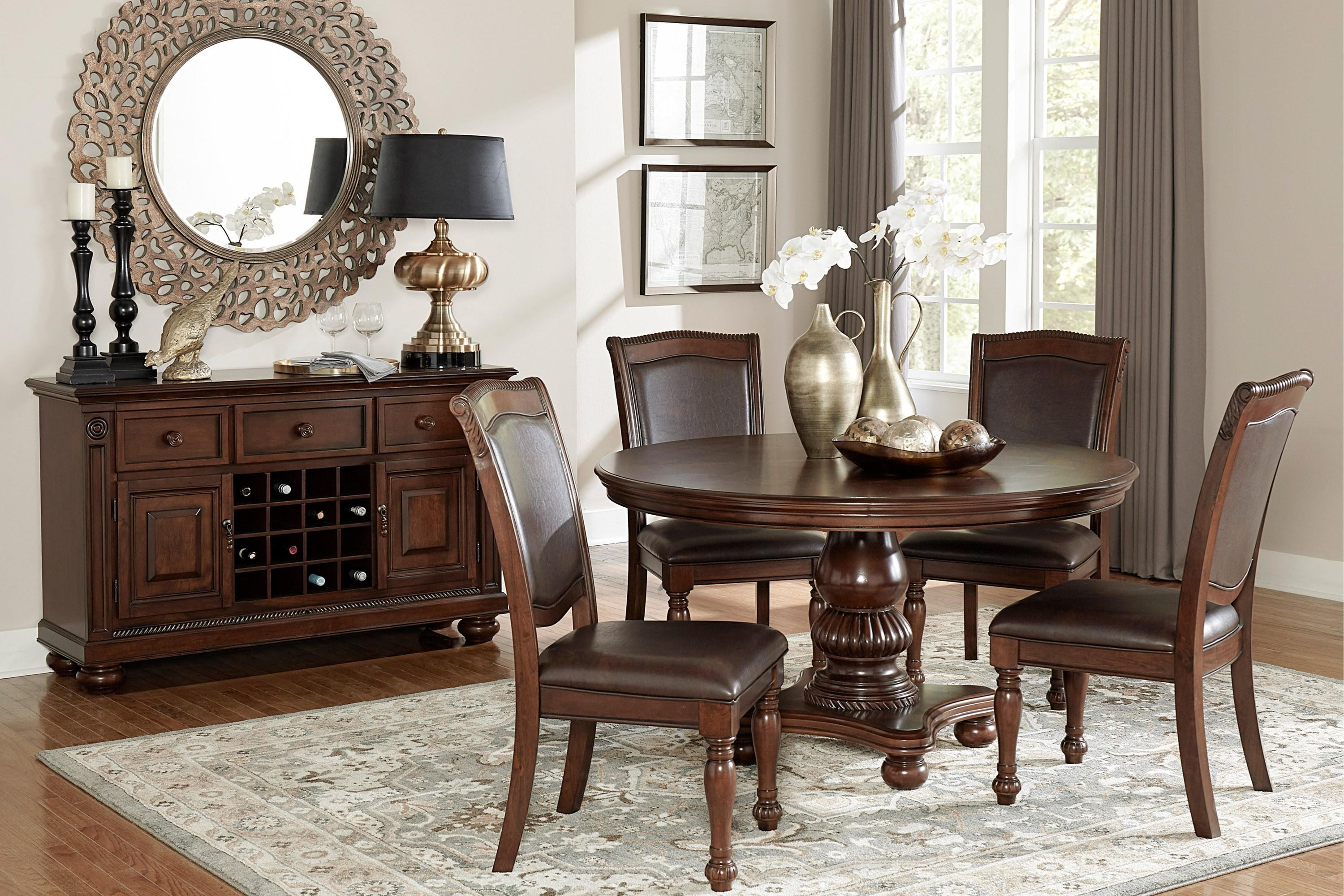 Lordsburg 5-Piece Table and Chair Set by Homelegance at Beck's Furniture